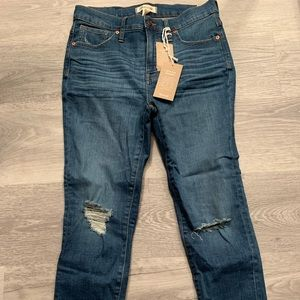 """Madewell 9"""" high rise skinny crop jeans"""